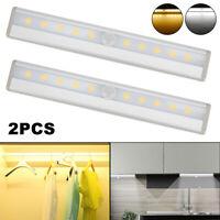 2XLuci a LED per cabinet del Sensore di movimento Batteria PIR Luce dell'armadio