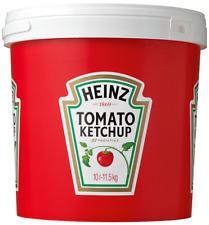 20 Heinz Tomato Ketchup Tubs - 10 Litre 11.5 Kg Catering Takeaway BULK Big Tub