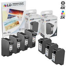 LD © Reman Replacement HP 45 & 23 Combo Set - 4 51645A & 3 C1283D 7pk