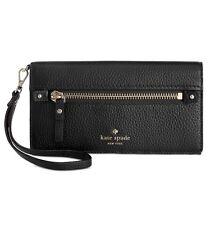 Kate Spade New York.Cobble Hill RAE Wristlet Wallet Clutch~BLACK~Retail $148~NWT
