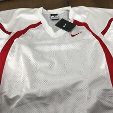A1 Nike Crack Back Game Jersey Football 424133 White/red Men's Xl New w/ tags!
