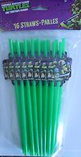 Party Straws TEENAGE MUTANT NINJA TURTLES Birthday Supplies 16 Pack