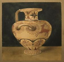 A. H. SMITH SGND LATE 19TH C 1898 ANTIQUE W/C GRECIAN URN LAID DOWN ON MILLBOARD