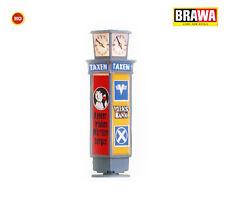 Brawa 5761 Reklamesäule mit Uhr, beleuchtet, 45 mm hoch +++ NEU in OVP