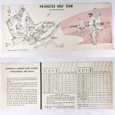 Vintage 1960's Princess Golf Club Southampton Bermuda Score Card Beach Hotel Mcm