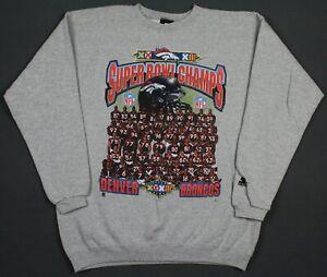 Denver Broncos VTG 1998 Super Bowl XXXII Starter Crewneck Sweatshirt Large