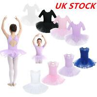 UK Girl Ballet Dress Skating Gym Tutu Skirt Dance Performance Dancewear Costumes