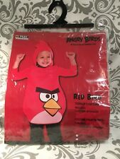 Halloween Angry Birds Toddler Red Bird Costume - 2T Costume with Hood New NIP