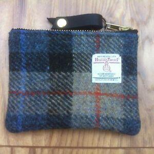McKenzie blue Harris tweed coin purse, tartan purse, plaid purse, gift for her