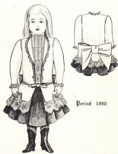 Period Doll Dress Pattern Victorian German French Antique / vintage look #5008