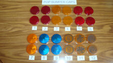 Bally Pinball Pop Bumper Caps, Used, You Choose Which Ones! Low Ship!