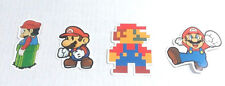 4 Pc Set Mario Brothers Vinyl Stickers Decals for Laptop Skateboard Stick On