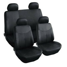 9x Luxury Leather Car Seat Full Set Covers Universal Black Interior Accessories