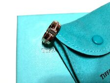 Tiffany and Co. 18K Rose Gold T Ring With Diamonds Size 6