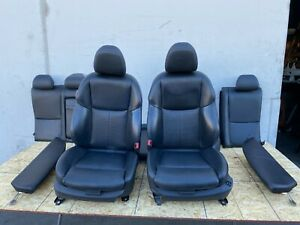 FRONT SEAT SEATS SET REAR BLACK RED SPORT INTERIOR INFINITI Q50 (14-17) OEM