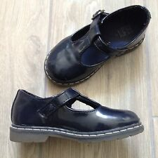 Zara Baby Girls Navy Blue Buckled Shoes. Like Doc Martins, Euro Size 22. VGC