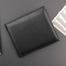 Black Men's Leather Bifold Wallet Vintage Coin Zipper Pocket Card Holder Purse