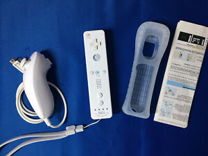Official White Nintendo Wii Remote Controller Motion Plus and Nunchuck FREE P&P