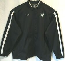 Dallas Stars Under Armour Men Jacket Black Long Sleeves Zip Up Pockets Size 2XL