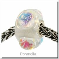 Authentic Trollbeads Glass 62014 Dichroic Ice :1