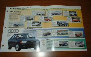 ★1965-99 HISTORY OF AUDI CARS BROCHURE 65-99 COUPE SUPER 90 200 TURBO QUATTRO 80
