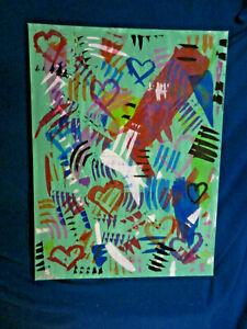 Acryl Bild Gemälde Abstrakt Malerei Kunst Modern UNIKAT  HANDGEMALT