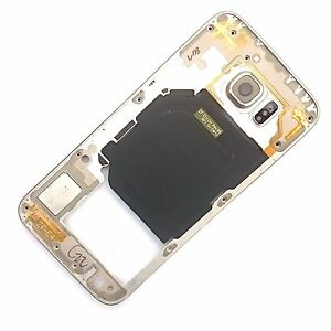 100% Genuine Samsung Galaxy S6 rear side chassis frame+camera glass+buttons Gold
