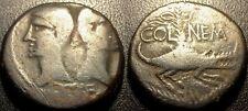 Auguste & Agrippa - dupondius de Nîmes têtes nues - 29-28 avant JC - RCV#1728