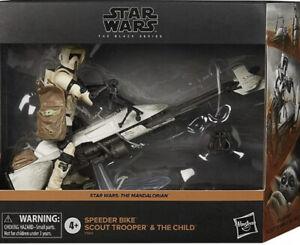 Star Wars Black Series Speeder Bike Scout Trooper &The Child Mandalorian Amazon