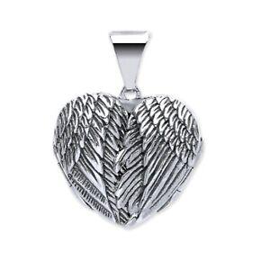 Sterling Silver Heart shaped Angel wing locket 5.23g