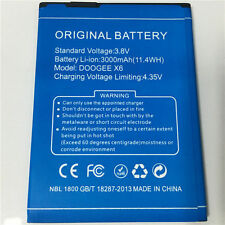 3000mAh For Original DOOGEE X6 Battery Doogee X6 Pro Mobile Phone Battery