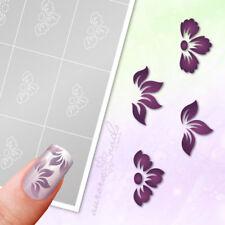 Airbrush + Nailart Stencils SET28 Flower Floral 80stk. Adhesive Set