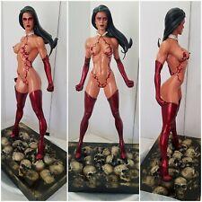 Sideshow 1/4 Scale Ms Marvel EX to Vampirella Custom OOAK Commission Statue