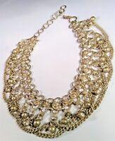 Vintage Old Belly Dancer Necklace Choker Collar Anklet Silver Tone Ornate Jingle