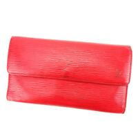 Louis Vuitton Wallet Purse Long Wallet Epi Red Woman unisex Authentic Used T3892