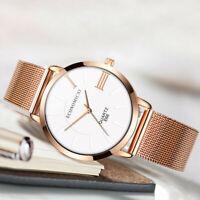 Women Casual Watches Luxury Rose Gold Ultra Thin Quartz Fashion Wrist Watch