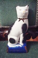 """Stoke-on-Trent Cat sitting on a pillow, 7 1/2"""" all by 3 1/2"""" by 2 1/2""""[8]"""