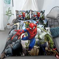 Linen Spiderman Single/Double/Queen/King Size Bed Doona/Duvet/Quilt Cover Set