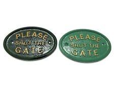 PLEASE SHUT THE GATE -  HOUSE DOOR PLAQUE SIGN GARDEN NEW ITEMS