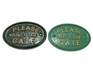 PLEASE SHUT THE GATE HOUSE DOOR PLAQUE SIGN GARDEN NEW ITEMS