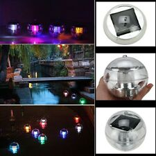 Outdoor Solar 7 Color Changing LED Floating Lights Ball Pond Pool Path Landscape