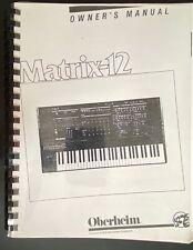 Oberheim Matrix 12 Manuale d'uso
