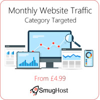 Monthly Website Traffic - Targeted by Category - Google & Alexa Safe