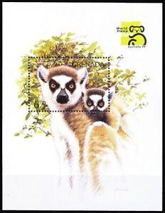 Grenada 1999 MNH MS, Ring Tailed Lemur, Wild Animals