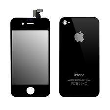 SET Retina LCD Display und Backcover Ersatzdisplay Werkzeug für iPhone 4 Schwarz
