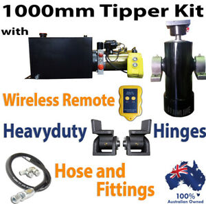Tipper Trailer Kit- 1000 MM  - Hydraulic Ram Cylinder with Hydraulic Power pack