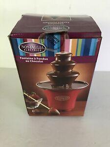 Nostalgia Chocolate Fondue Fountain 3 Tiers. Red.