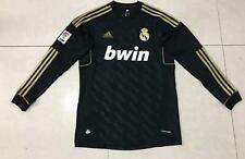 Real Madrid 2012 soccer Black Retro long sleeve jersey