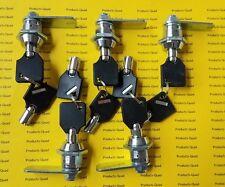 "5 pack Keyed alike Tubular Cam Lock 5/8"" for RV, Camper, Drawer Cabinet Toolbox"