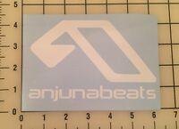 """Anjunabeats 6"""" Wide White Vinyl Decal Sticker - BOGO"""
